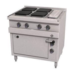 MKN Optima 700 elektrisch fornuis met 4 kookplaten 220x220 mm en oven- 2123203