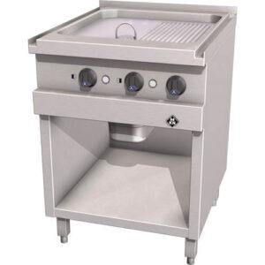 MKN elektrische bak/grillplaat glad/geribbeld - 2121127