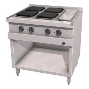 MKN Optima 700 elektrische kooktafel met 4 kookplaten 220x220 mm - 2123202