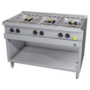MKN Optima 700 gas kooktafel met 6 branders - 2163405