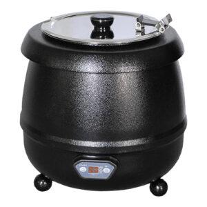 Bistro soepketel 10 liter met digitale thermostaat zwart - 537112