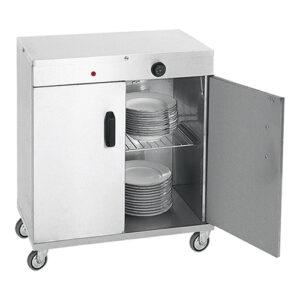 RVS warmhoudwagen voor 80 borden - 710060