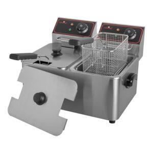 CaterChef elektrische friteuse 2x 5 liter - 688055