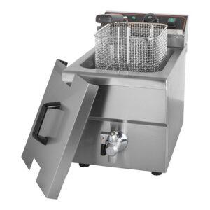 CaterChef elektrische friteuse 8 liter met aftapkraan - 688808