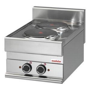 Modular 650 elektrische kookunit met 2 kookplaten | FU 65/40 PCE - 316012