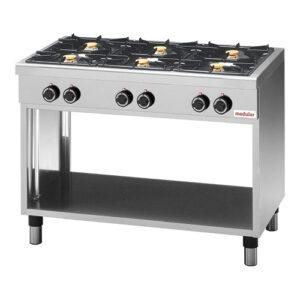 Modular 650 gas kooktafel met 6 branders | FU CEG/110 - 316226