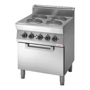 Modular 700 elektrisch fornuis met 4 kookplaten | FU 70/70 CFE - 316715