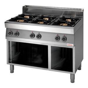 Modular 700 gas kooktafel met 6 branders | FU 70/110 PCG - 316702