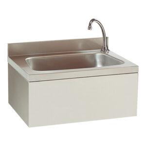 Modular RVS handenwasbak met kniebediening en kraan - 317132