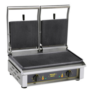 Roller Grill dubbele contactgrill geribbeld | Majestic - 304062