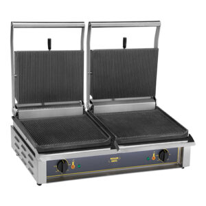 Roller Grill dubbele contactgrill geribbeld Double Panini - 304063