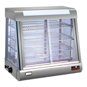 CaterChef warmhoudvitrine 660mm met 3 etages zilver - 688072