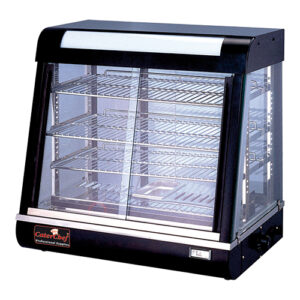 CaterChef warmhoudvitrine 660mm met 3 etages zwart - 680070