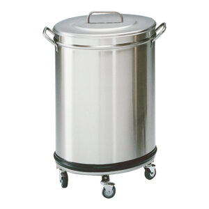 Modular RVS verrijdbare afvalbak 50 liter -317116-317017