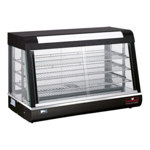 CaterChef warmhoudvitrine 900mm met 3 etages zwart- 680071