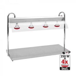 Rocam RVS warmhoudplaat met infrarood warmtebrug 4/1GN - 710400