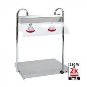 Rocam RVS warmhoudplaat 2/1GN met infrarood warmtebrug - 710200