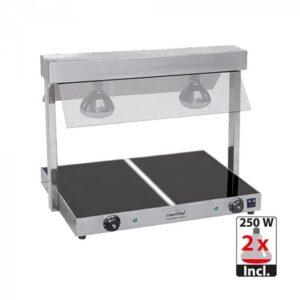 CaterChef keramische warmhoudplaat 2/1GN met warmtebrug - 688620