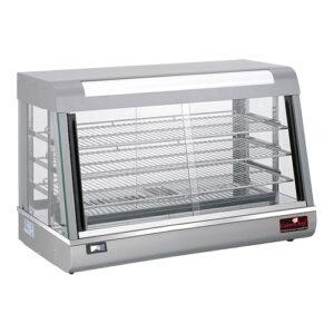CaterChef warmhoudvitrine 900mm met 3 etages zilver - 680073