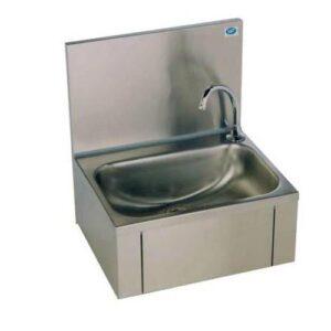RVS handenwasbak met kniebediening en mengkraan | 460x380x512 - KRO-111