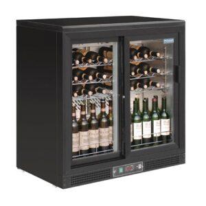 Polar G wijnklimaatkast met schuifdeuren voor 56 flessen - GH130