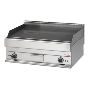 Modular elektrische bak/grillplaat chroom glad FU 65/70 100 FTE-CR - 316129