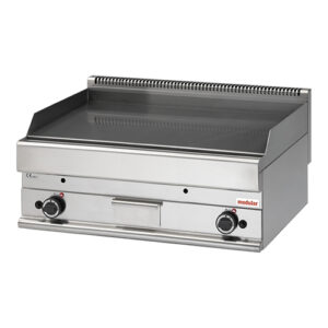 Modular 650 gas bak/grillplaat chroom glad 65/100 FTG-CR - 316128