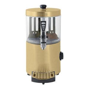 CaterChef warme chocolademelk dispenser 3L goud - 417023